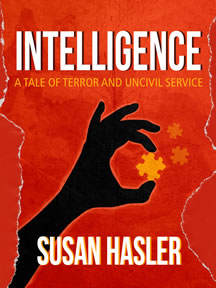 Cover of political satire book Intelligence by Susan Hasler